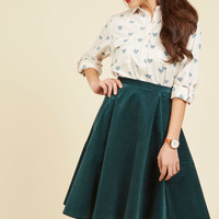 Chic Me in Mind Skater Skirt | Mod Retro Vintage Skirts | ModCloth.com
