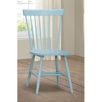 Homelegance April Side Chair In Pastel Blue