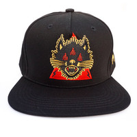 Never Scared Snapback Hat in black