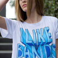 I Like Bands Crop Shirt