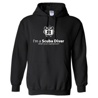 I'M A SCUBA DIVER WHAT'S YOUR SUPERPOWER? - Heavy Blend™ Hooded Sweatshirt