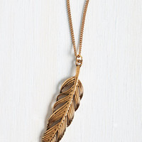 Spotlight as a Feather Necklace by ModCloth