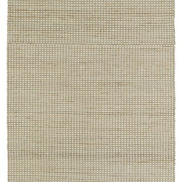 Ivory Rug in Jute + Felted Wool