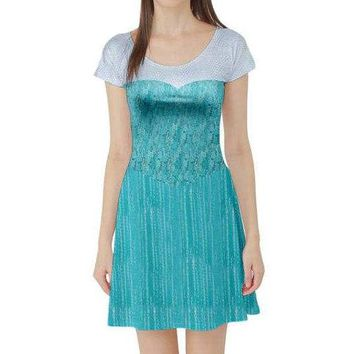 Elsa Frozen Inspired Short Sleeve Skater Dress