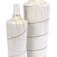 Curasso Retro Finish Vases-Set of 2