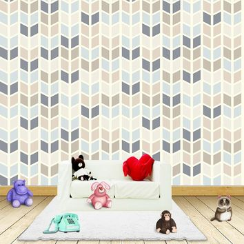 Custom any size 3D wall mural wallpapers Modern fashion Color geometric pattern 3D Perspective Wall Sticker YBZ105