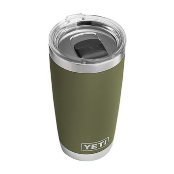 20 oz. DuraCoat Rambler Tumbler in Olive Green with Magslider™ Lid by YETI