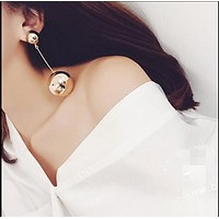 Tassel size ball fashion personality exaggerated nightclub earrings