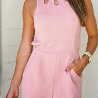 Runaway Smile Romper: Blush | Hope's