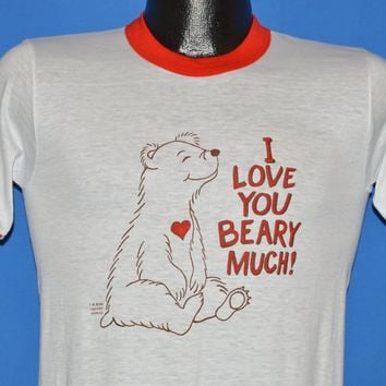 80s I Love You Berry Much Deadstock Ringer t-shirt Small