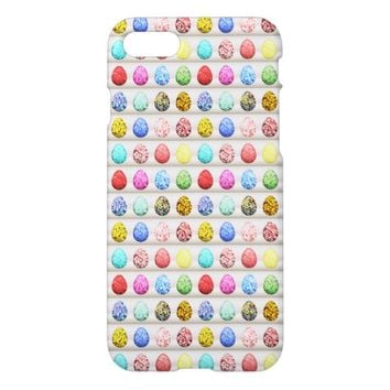 Colorful Easter Egg Hunt Pattern iPhone 7 Case