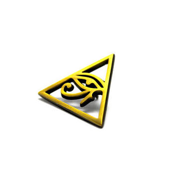 The Illuminati Hat Pin- Streetwear Lapel Music Festival Trippy