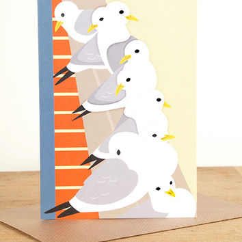 Kittiwakes Greetings Card