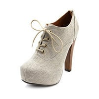 Canvas Lace-Up Bootie: Charlotte Russe