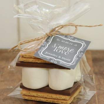 24 S'mores Wedding Favor Kits  Any Label Design by thefavorbox
