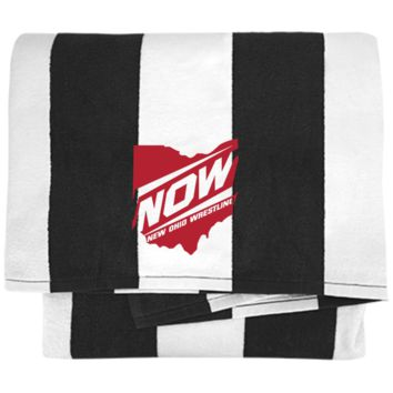 New Ohio Wrestling PT43 Port & Company Cabana Stripe Beach Towel