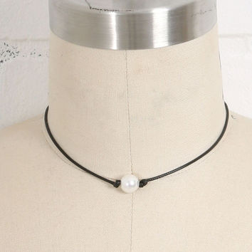 Pearl on a Cord Necklace +Gift Box
