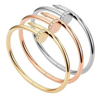 Cartier Trending Simple Nail Bracelet Nail(3-Color) I