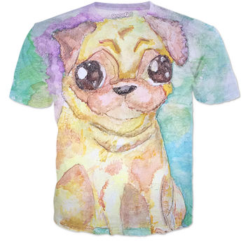Water color pug