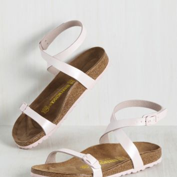The Gist of Minimalist Sandal in Pink | Mod Retro Vintage Sandals | ModCloth.com