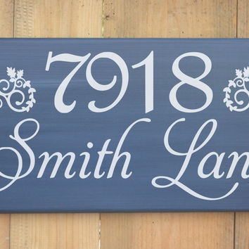 House Address Sign Custom Personalized Outdoor Home Wood Sign Street Name Number Road Porch Entry Welcome Family Name Wooden Plaque Gift