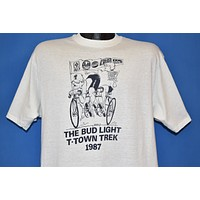 80s Bud Light T-Town Trek 1987 t-shirt Large