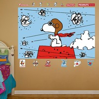 Peanuts Snoopy Flying Ace Mural Wall Decals by Fathead