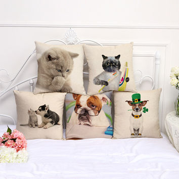 Cotton Animal Lover Pillow