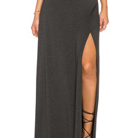 Clayton Sarah Maxi Skirt in Charcoal