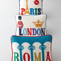 Jonathan Adler Jet Set  Needlepoint Pillows