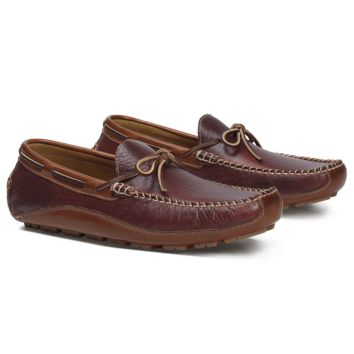 Men's Drake Bison Loafer in Red by Trask