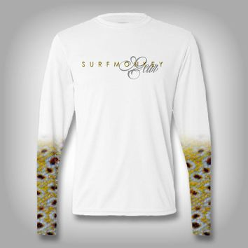 Brown Trout Scale Sleeve Shirt -  SurfMonkey - Performance Shirts - Fishing Shirt