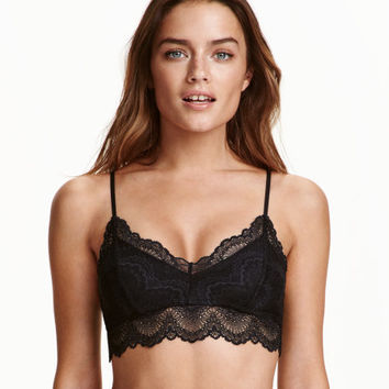 Soft-cup Lace Bra - from H&M