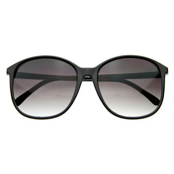 Womens Retro Fashion Large Oversize Round Mod P-3 Sunglasses
