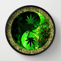 Galactic Yin Yang Space Hemp Wall Clock by Nate4D7