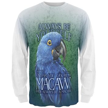 Always Be Yourself Unless Blue Hyacinth All Over Mens Long Sleeve T Shirt