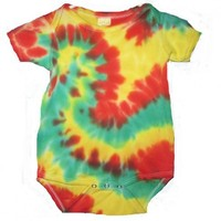 Tie Dyed Baby Onesuit size 24 months | TheHempCreations - Clothing on ArtFire