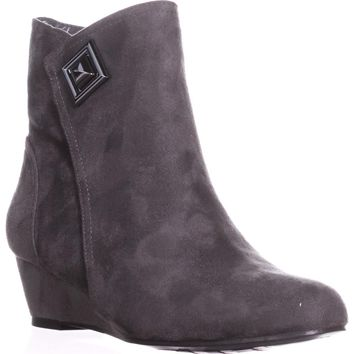 Impo Giovanna Wedge Ankle Booties, Seel Grey, 7 US