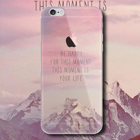 """BE HAPPY FOR THIS MOMENT ""mobile phone case for iPhone 7 7 plus iphone 5 5s SE 6 6s 6 plus 6s plus + Nice gift box 072301"