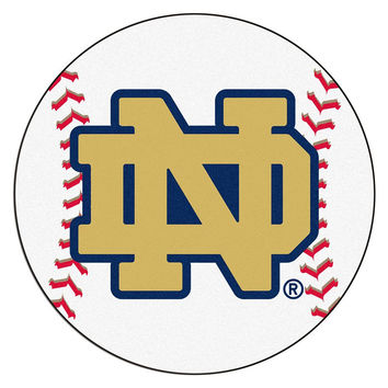Notre Dame Fighting Irish NCAA Baseball Round Floor Mat (29) ND Logo