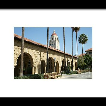 Stanford University Palo Alto California Hoover Tower Dsc643 Framed Print