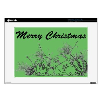 "15"" Laptop Skin (Mac & PC) - Christmas Baubles"