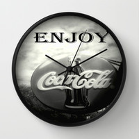Coca Cola #2 Wall Clock by Chris Chalk