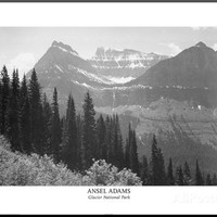 Ansel Adams Glacier National Park Art Print Poster Posters at AllPosters.com