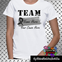 Melanoma and Skin Cancer Personalize Shirts (Add Team Name and Cause)