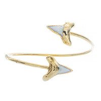 Double Shark Tooth Bangle | VidaKush