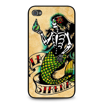 Day of The Dead Mermaid Art iPhone 4 | 4S Case