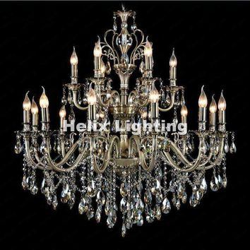 New Arrival European Modern Brass Color Crystal Pendant Lamp Ceiling Lamp Chandelier Dining Room Lighting E14 AC 100% Guaranteed