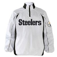 Pittsburgh Steelers Post Game 1/2 Zip Post Game White Lightweight Jacket - Official Online Store