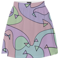 Triangle Swirl skirt created by duckyb | Print All Over Me